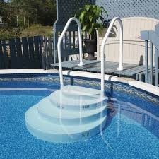 Above ground pool stairs New pool Pinterest Ground pools