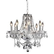 elegant lighting princeton 8 light royal crystal chandelier in chrome