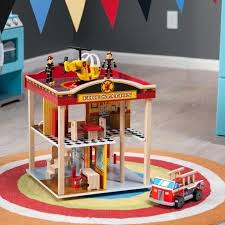 fire station play set kidkraft deluxe