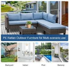 outsunny 4 seater outdoor garden pe