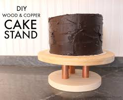 Copper cake stand diy