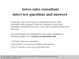 lowes s consultant interview questions and answers documents lowes s consultant interview questions and answers documents tips sharing is our passion