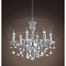 2018 best of chrome and glass chandelier modern style glass crystal 5 light
