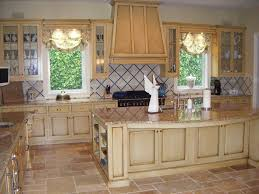 how to antique glaze white kitchen cabinets models kitchens with antique white cabinets la s