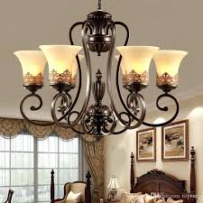 3 5 6 8 arms retro chandelier lampshade wrought iron chandelier living dining room bedroom hanging industrial wrought iron