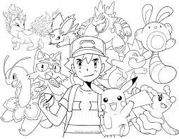 Disegno Dei Pokemon Da Colorare Con Immagini Pokemon Da Colorare E