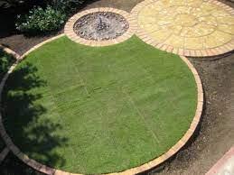 circular lawn circular garden design