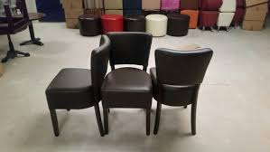 pew chairs for sale uk. sold 12 x new brown faux leather oregon side chairs - derby pew for sale uk k