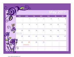 calendar for the month of may may 2017 calendar pdf blank calendar printable