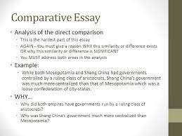 comparative essay another skill historians attempt to master is  comparative essay analysis of the direct comparison example why