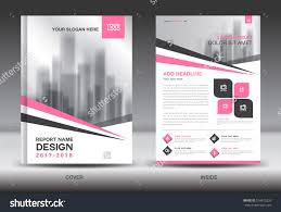 pink cover annual report brochure flyer stock vector 518475226 pink cover annual report brochure flyer template creative design front and inside page layout