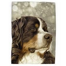 Bernese Mountain Dog Tea Towel Regal Vintage