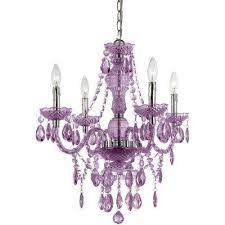 naples 4 light purple mini chandelier