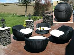 black wicker outdoor furniture plastic resin for your storage
