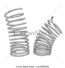 metal spring png. metal spring isolated on white background png