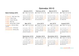 Annual Calendar 2015 Calendar 2015 Uk Free Yearly Calendar Templates For Uk