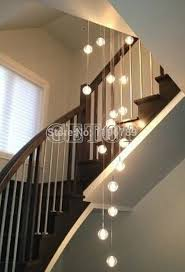 stairwell lighting. Modern Crystal Chandelier Lights Fixtures Magic Ball Lustres Loft Stairwell Light LED Meteor Shower Lighting N