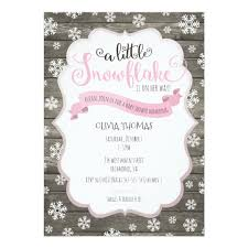 Snowflake Baby Shower Invitations A Little Snowflake Baby Shower Invitation Zazzle Com