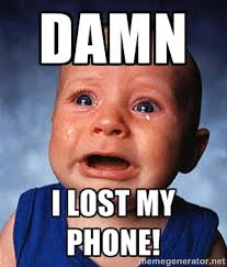 damn I lost my phone! - Crying Baby | Meme Generator via Relatably.com