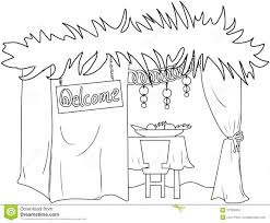 Small Picture Sukkah For Sukkot Coloring Page Stock Vector Image 37203434