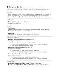 Good Resume Templates Example High School Student Resume Resume Good