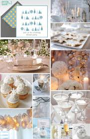 Christmas Party Ideas - Winter Party - All white & Ice blue w/ snowflakes,