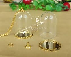 free ship30sets 38x25mm glass cover crystal bottlehollow glass hand blown blown glass bottle pendant