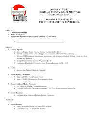 SIBLEY COUNTY REGULAR COUNTY BOARD MEETING MEETING AGENDA November 8, 2016  at 9:00 AM COURTHOUSE COUNTY BOARD ROOM