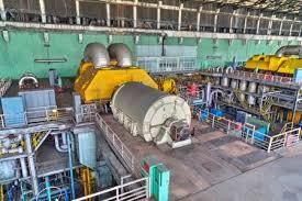 electric generator power plant. Machine Room In Thermal Power Plant With Electric Generators And Turbines Stock Photo - 48753539 Generator