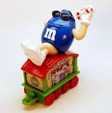 m m series 1 car 2 boxcar gifts train figurine mars inc blue candy cane