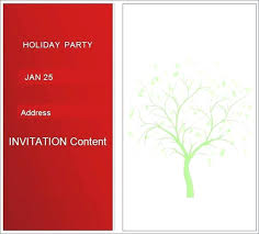Christmas Wording Samples New Free Party Invitation Templates For Word And Blank Template