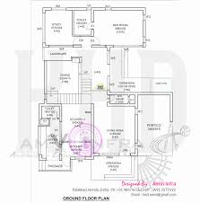 modern 4 bhk house plan in 2800 sqfeet kerala home