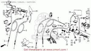 honda vt500c shadow 500 1983 d usa control levers cables control levers cables switches schematic