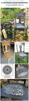 cutting edge furniture. Cutting Edge Stencils Shares A DIY Painted And Stenciled Wooden Chair Makeover Using The Prosperity Mandala Furniture S