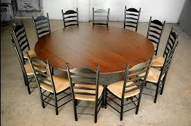 large round dining table 12 seat