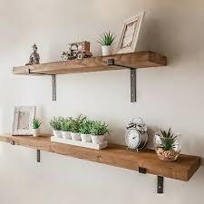 rustic wood wall shelf industrial