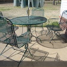 used wrought iron patio furniture for