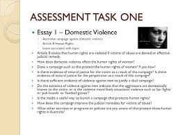 assessment powerpoint ppt assessment task one essay 1 domestic violence