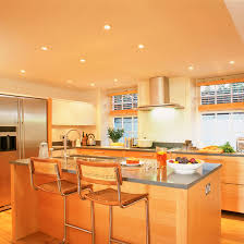 kitchen spot lighting. Modern Basement Kitchen With Task Lighting And Wood Floor Glass Cabinets Island Spot O