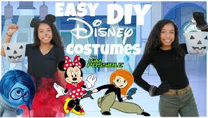 Homemade Disney Costume Ideas Super Easy Diy Disney Halloween Costumes 2015 Youtube