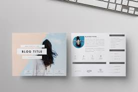 Two Page Media Kit Live Freely Resume Templates Creative Market