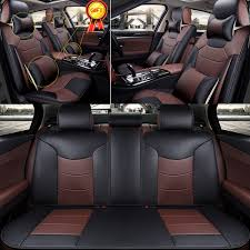 great us 5 seats car seat cover front rear cushion 4 season microfiber leather pillow 2017 2018