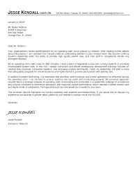 Sample Cover Letter For Nurses Returning To Work Cover Letter