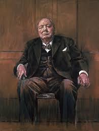 winston churchill by graham sutherland photograph by larry burrows