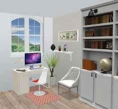 outside home office. Fine Outside White Home Office With An Outside View On A Garden In