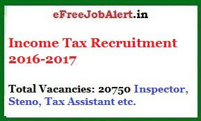income tax recruitment 2016 2017 tax assistant