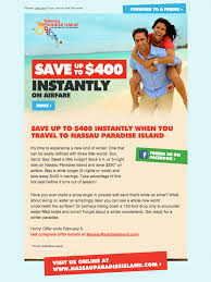 email offer bahamas nassau travel offer email html email gallery