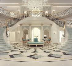 Luxury Mansion Interior Grand Double-Staircased Foyer Design | Checkout  @PharaohsLegacy for More Unique Homes | Aesthetic Elegance & Opulent Design  ...