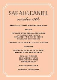 Wedding Ceremony Program Cover Wedding Programs Match Your Colors Style Free Basic Invite