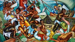 reading melville in post america the nation hale woodruff s mural mutiny on the amistad 1939 courtesy of talladega college alabama